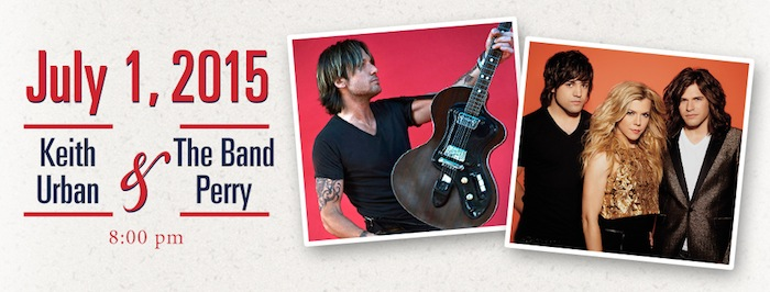 Keith Urban & The Band Perry Concert on July 1, 2015