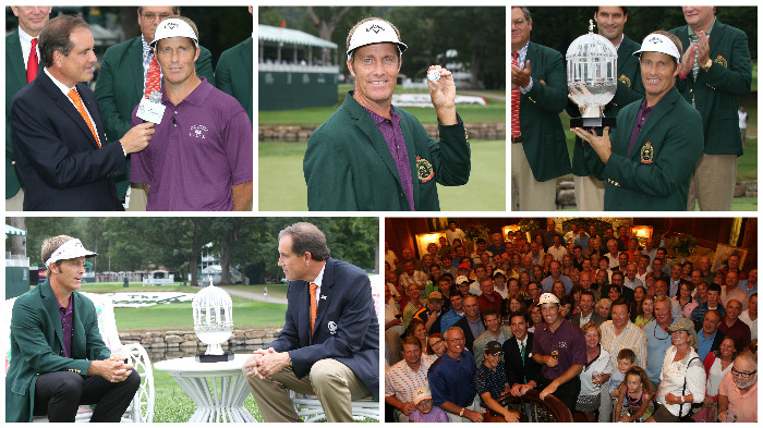 2010 Awards Ceremony with Champion Stuart Appleby at The Greenbrier Classic