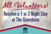 All Volunteers Receive a 1 or 2 Night Stay